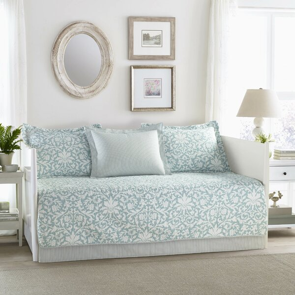 Mia 100% Cotton 5 Piece Twin Daybed Set by Laura Ashley Home by Laura Ashley Home